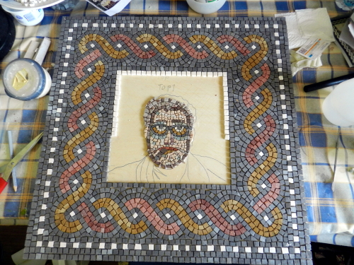Face complete. Photo: Helen Miles Mosaics