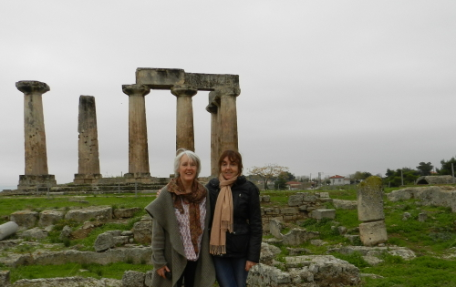 Me, Kate and the Temple of Zeus. Photo: Helen Miles Mosaics