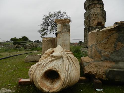 Fallen statue, Corinth, Greece. Photo: Helen Miles Mosaics