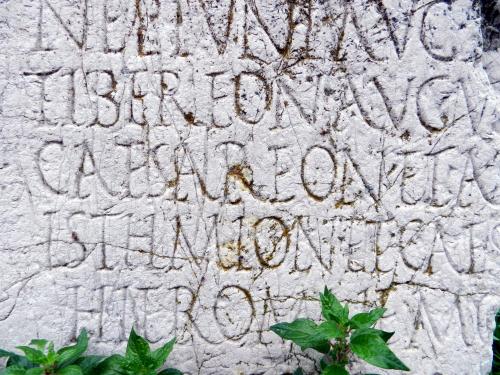 Latin inscrption, Corinth, Greece. Photo: Helen Miles Mosaics