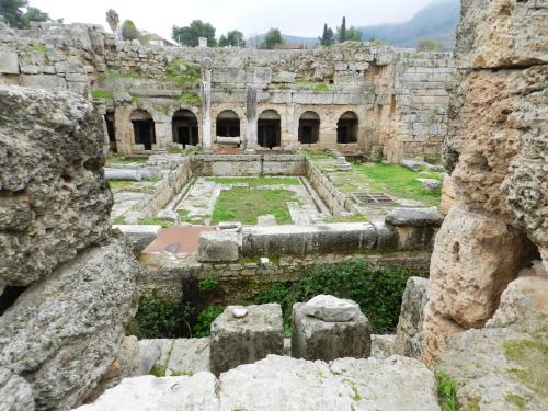 Roman fountain house, Corinth, Greece. Photo: Helen Miles Mosaics