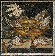birds and urn. roman