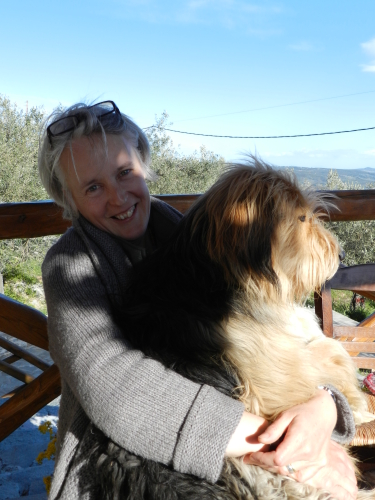 The dog and me.