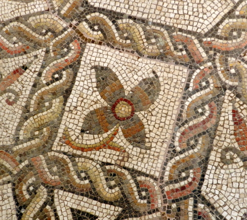 Mosaic flower detail.