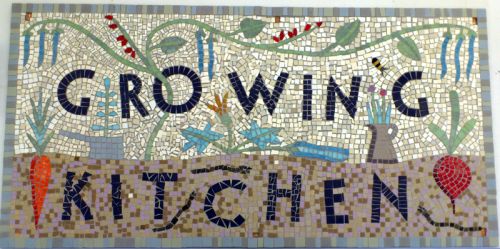 T.Hunkin. Growing Kitchen. Hackney Mosaic Project