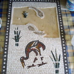 Fish and bird mosaic _WIP