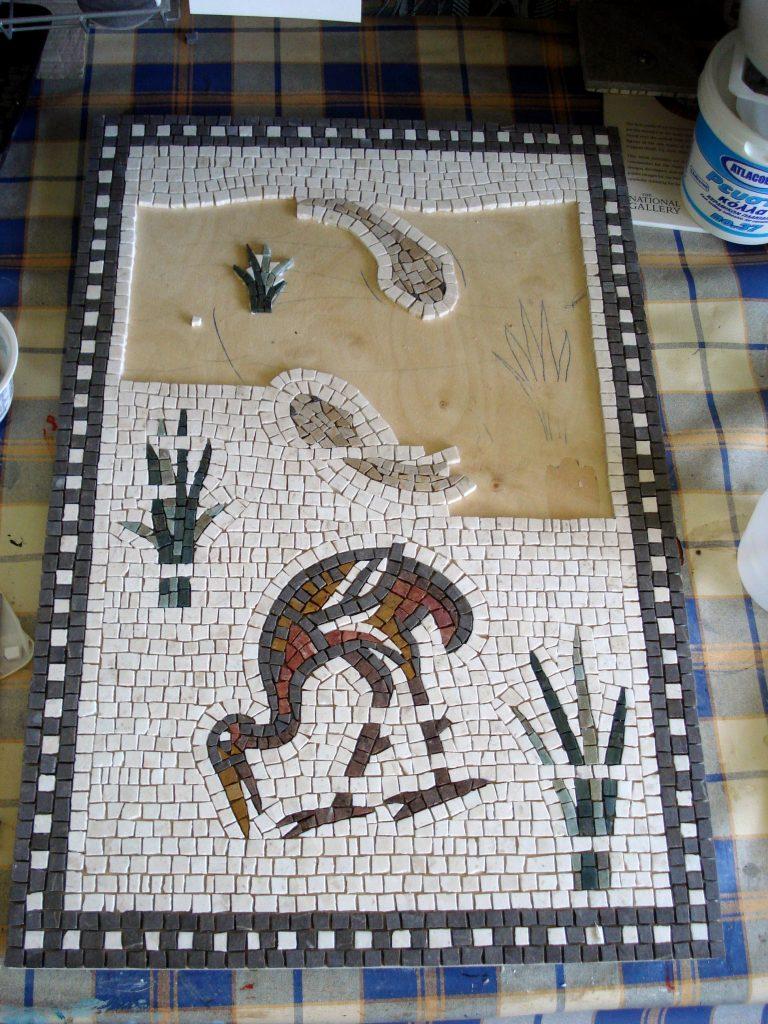 Fish and bird mosaic _WIP