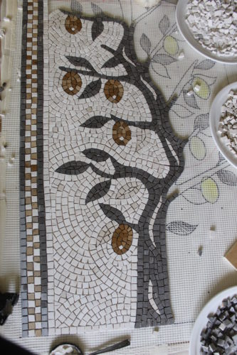 making a mosaic