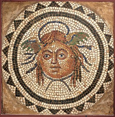 mosaic Medusa heads