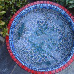 completed mosaic garden urn _interior view
