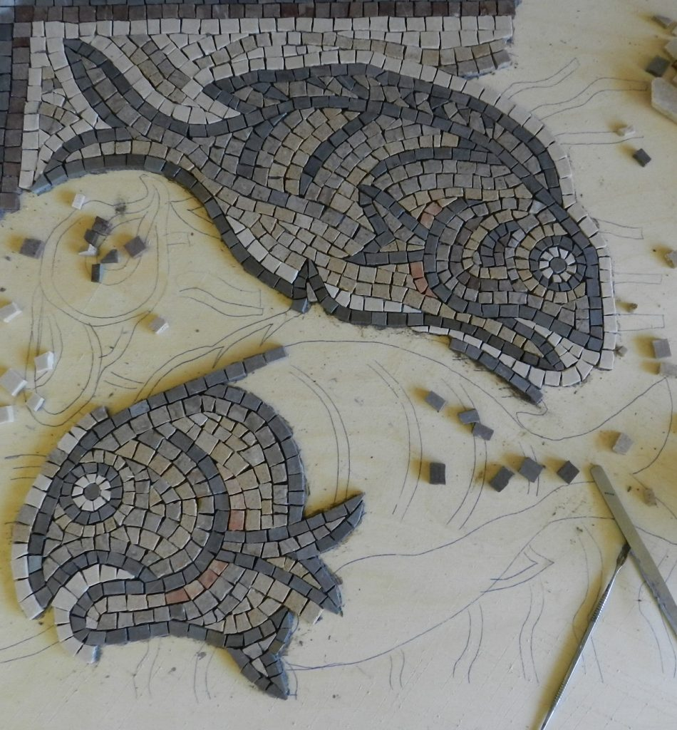 Qasr Libya fish mosaic_work in progress