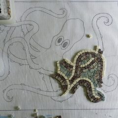 Washington panel mosaic_work in progress_the octopus