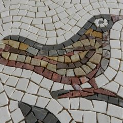 Birds and branches mosaic _ bird 1_before grouting.