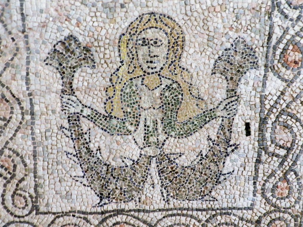 Mermaid. Mosaics of San Giovanni Evangelista, Ravenna.