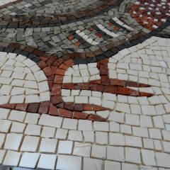mosaic partridge feet detail