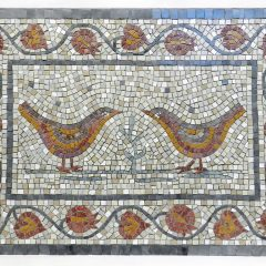Love birds mosaic _ after grouting