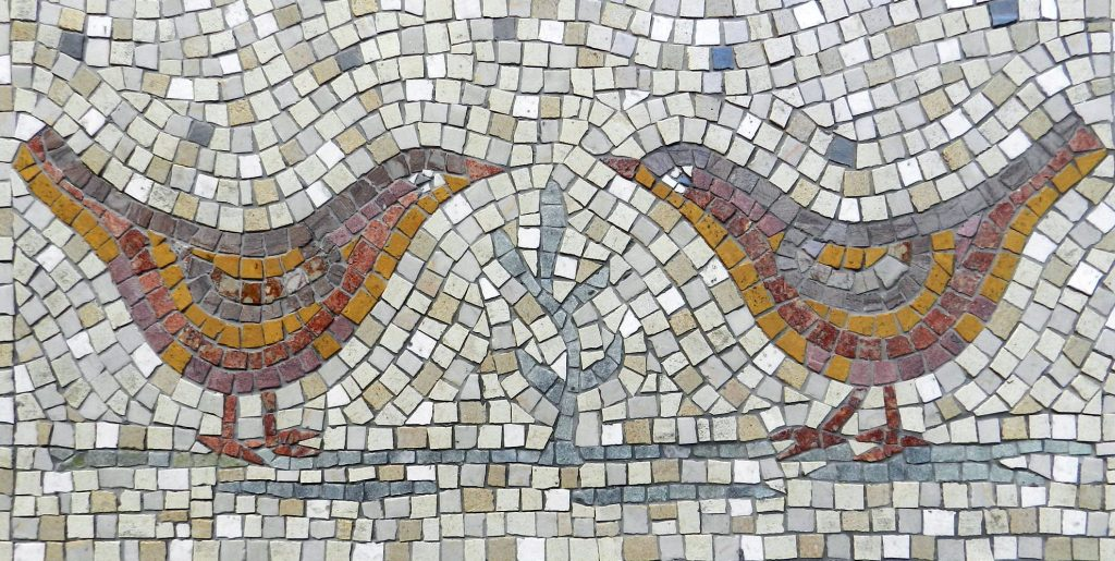 Love birds mosaic _ birds detail