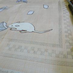 finalising the unswept floor mosaic design