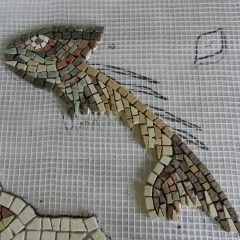fish detail of unswept floor mosaic
