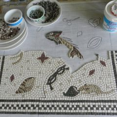 half way through the unswept floor mosaic