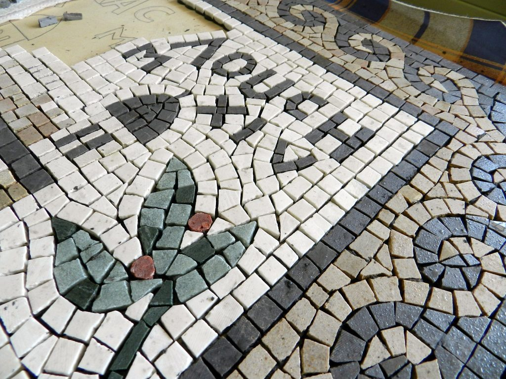 London wedding mosaic_work in progress.