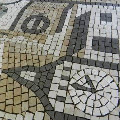 london wedding mosaic_detail before grouting