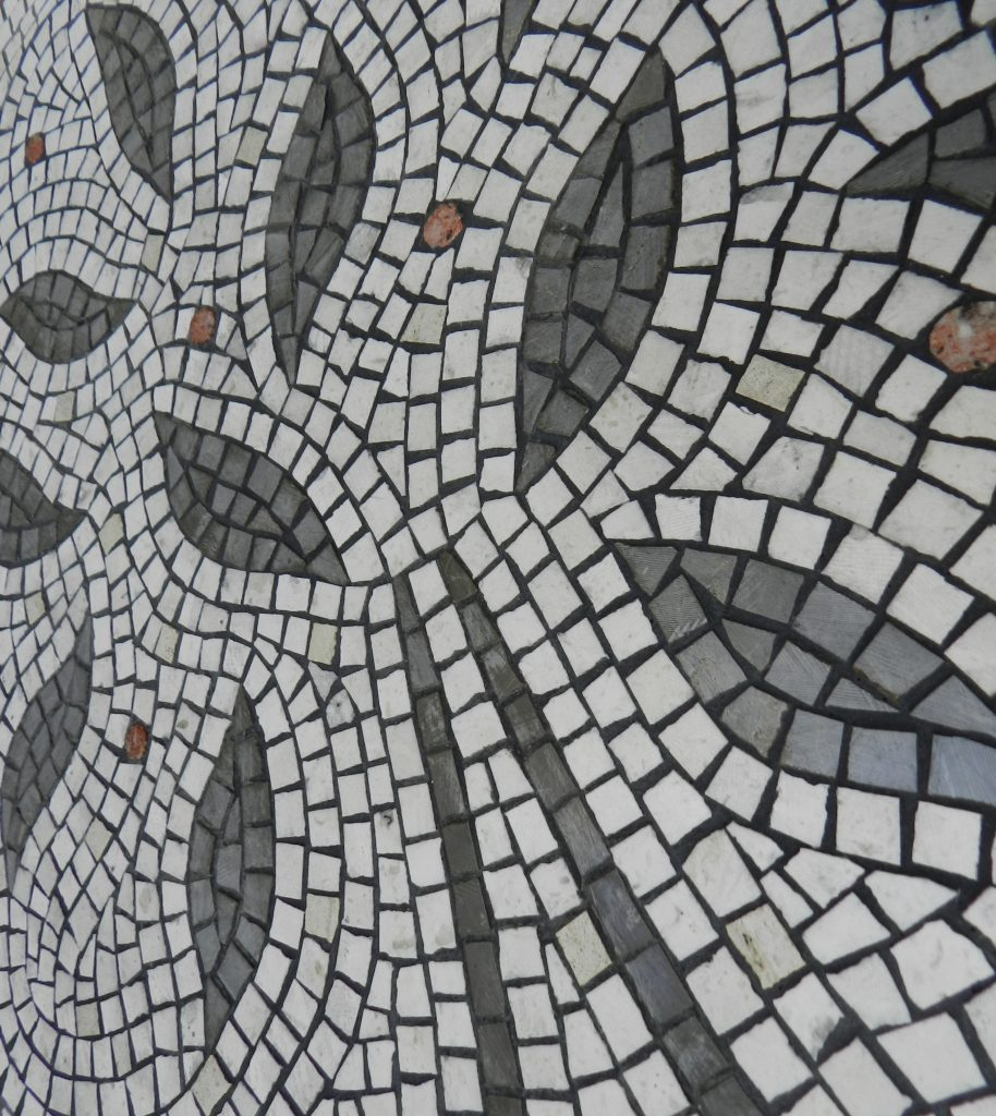 Wedding mosaic for CH & RZ_tree detail after grouting