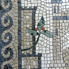 London wedding mosaic_peel tower detail