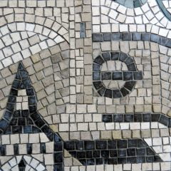 london wedding mosaic_tube station detail