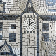 London wedding mosaic_big ben detail