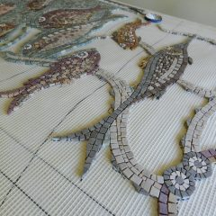 Octopus and fish mosaic_ work in progress 2