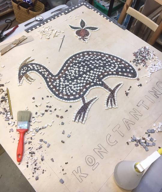 guinea fowl mosaic _ work in progress