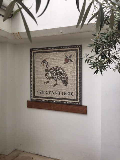 guinea fowl mosaic