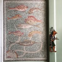 Octopus and fish mosaic