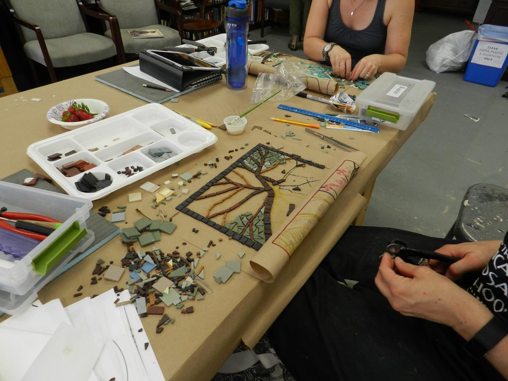 Chicago Mosaic School - Gaylen Worthen's work in progress
