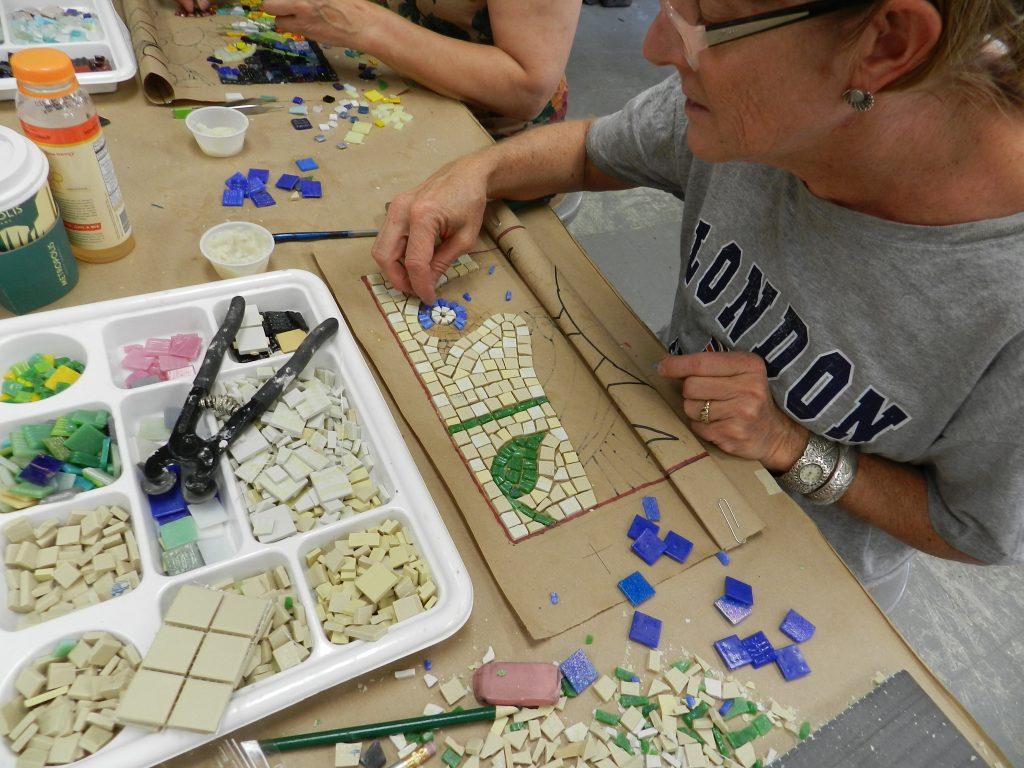 Chicago Mosaic School - Lisa Domenici's work in progress