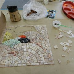 Chicago Mosaic School - Kate Jessup's work in progress