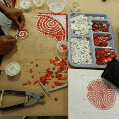 Chicago Mosaic School - Wasentha Young's work in progress