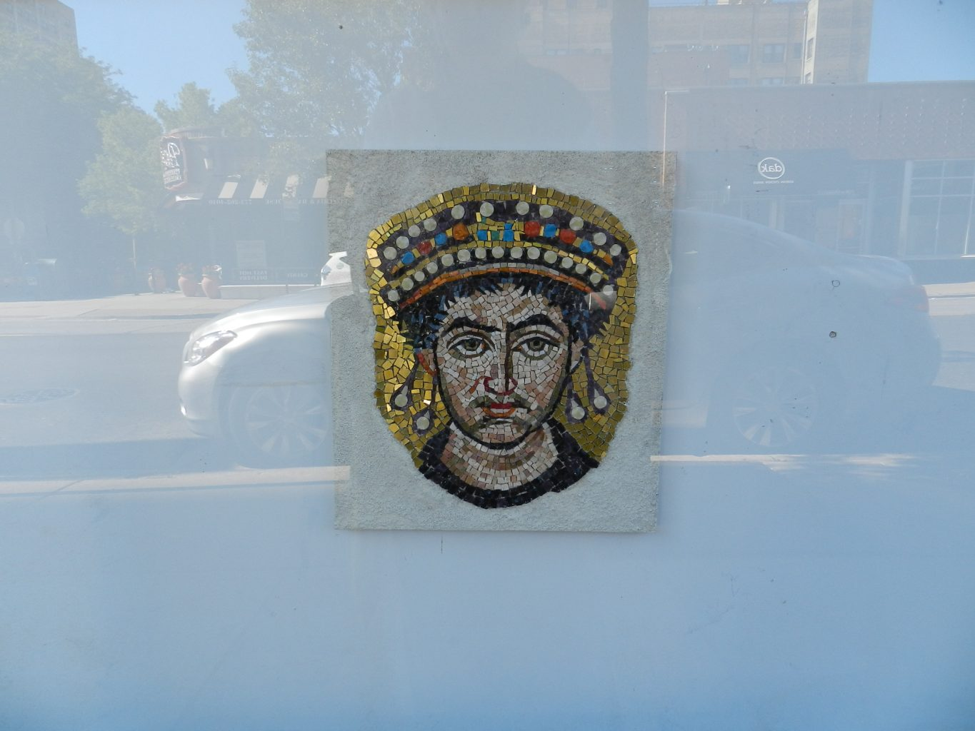 The Emperor Justinian at the Chicago Mosaic School