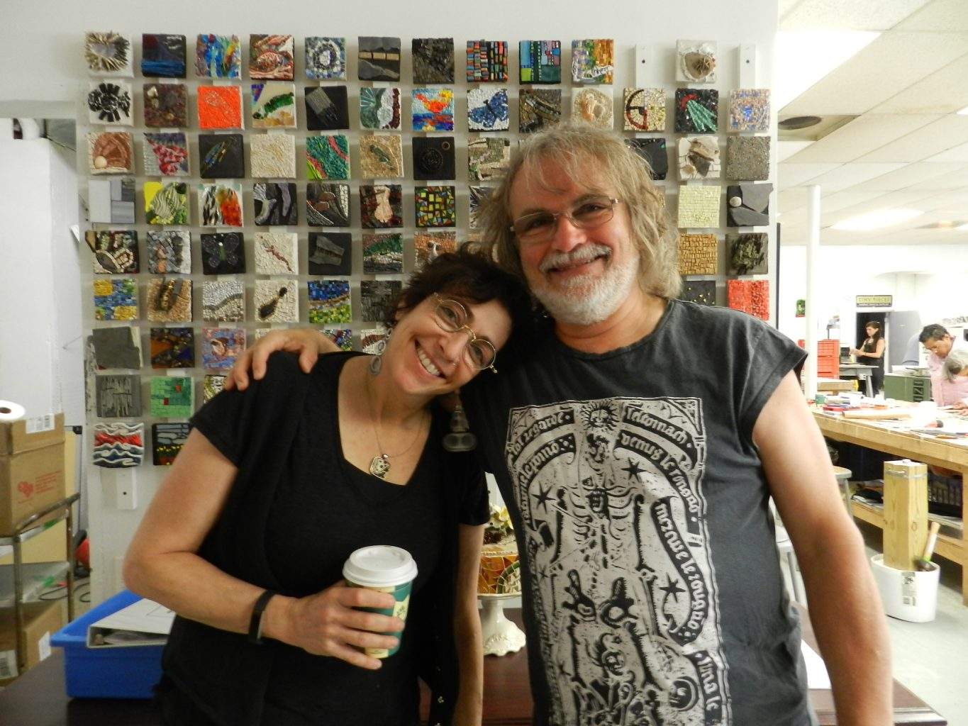 Karen Ami and Gary Drostle at the Chicago Mosaic School