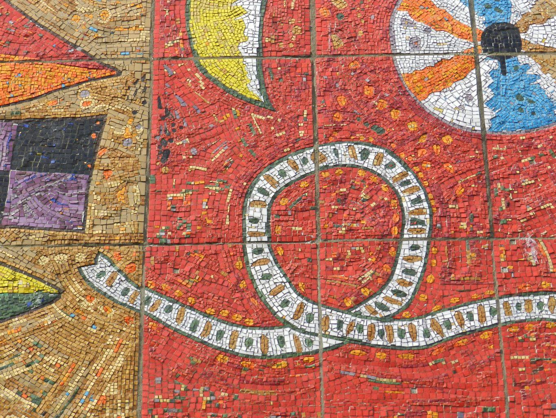 George Garson, Grangemouth mosaic detail. Mosaics of Scotland