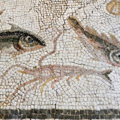 Art Institute of Chicago: fish mosaic detail with prawn.