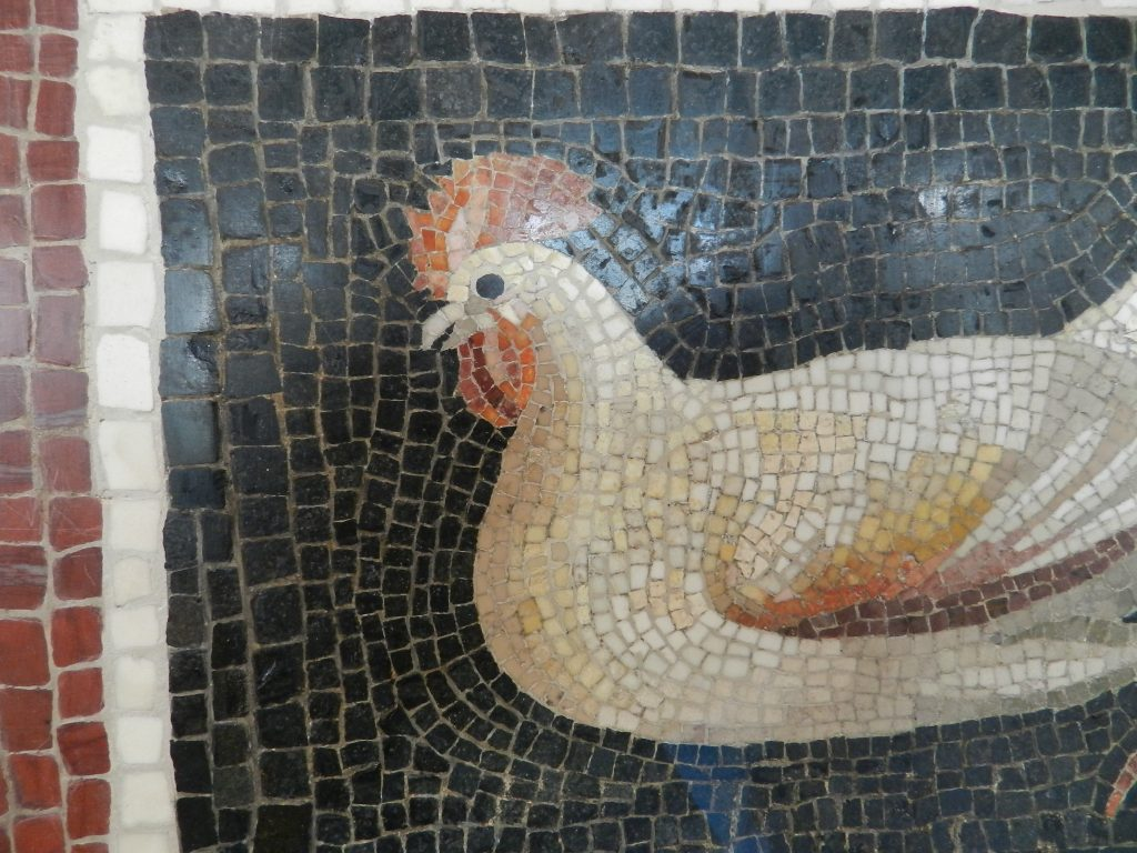 Art Institute of Chicago: rooster mosaic detail