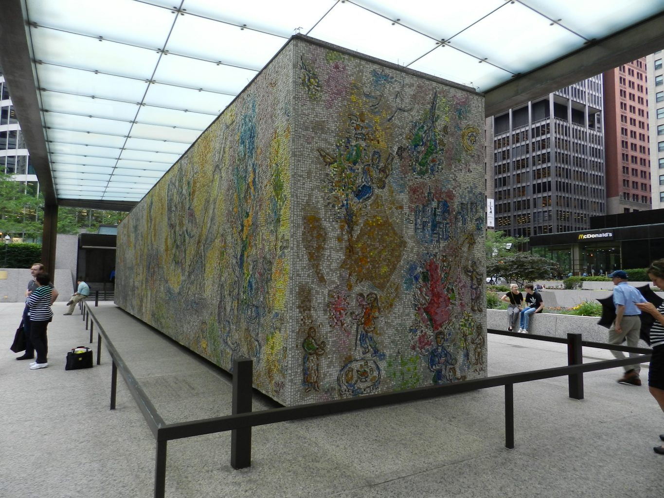 Marc Chagall's Four Seasons mosaic_ the monument.