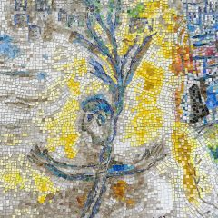 Marc Chagall's Four Seasons mosaic_ stick man