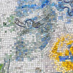 Marc Chagall's Four Seasons mosaic_ angel.