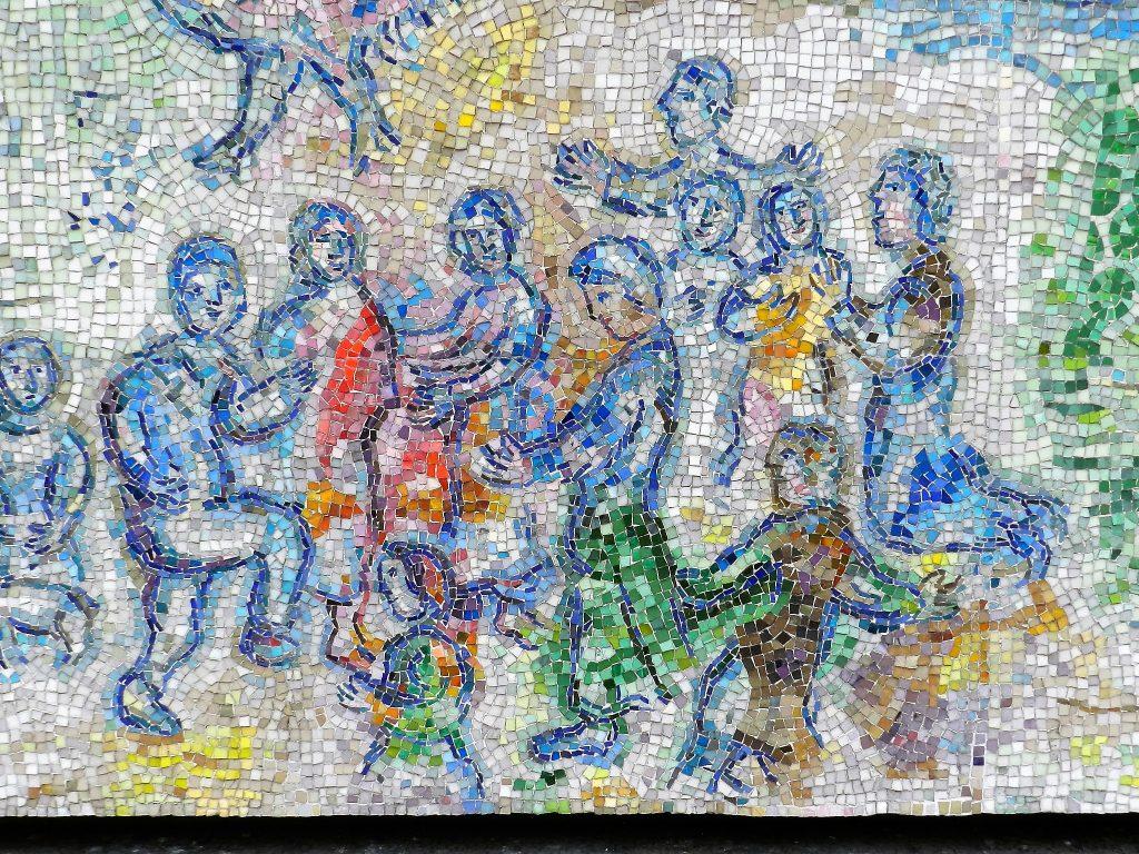 Marc Chagall's Four Seasons mosaic_ group.