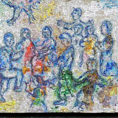 Marc Chagall's Four Seasons mosaic_ group.