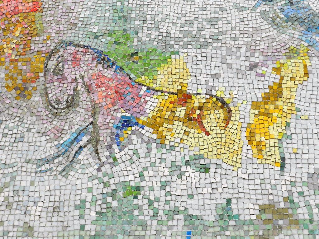 Marc Chagall's Four Seasons mosaic_ half horse.