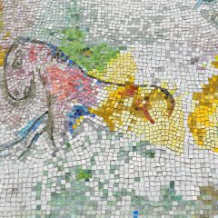 Marc Chagall's Four Seasons mosaic_ half horse.